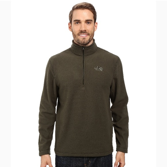The North Face Other - NORTHFACE 1/4 zip pullover jacket green fleece men